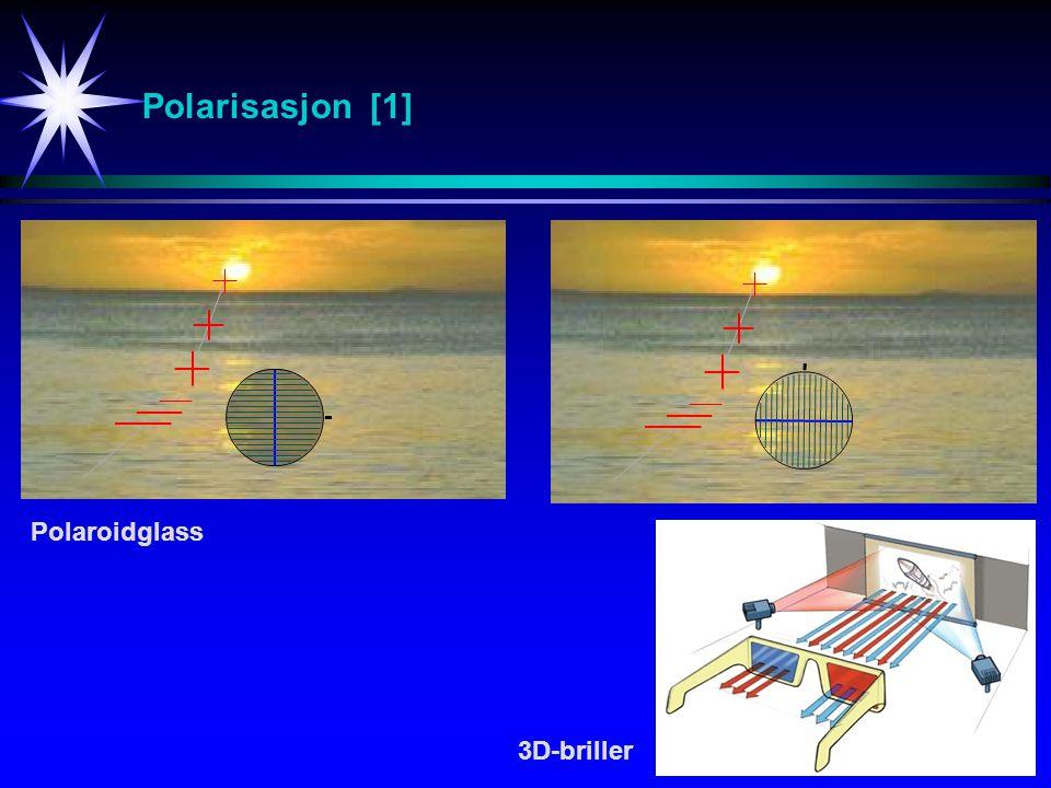 Polarisasjon [1] Polaroidglass 3D-briller